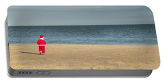 Little Santa On The Beach Portable Battery Charger