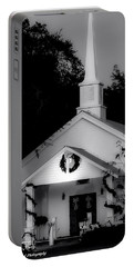 Little White Church Bw Portable Battery Charger