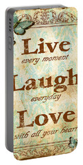 Live-laugh-love Portable Battery Charger