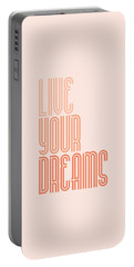 Live Your Dreams Wall Decal Wall Words Quotes, Poster Portable Battery Charger