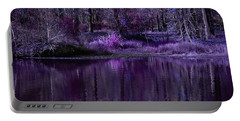 Living In A Purple Dream Portable Battery Charger by Linda Unger