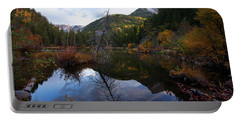 Portable Battery Charger featuring the photograph Lizard Lake by Jim Garrison