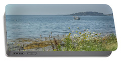 Portable Battery Charger featuring the photograph Lobster Boat At Rest by Jane Luxton
