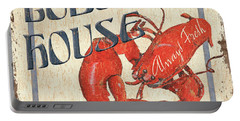 Lobster House Portable Battery Charger by Debbie DeWitt