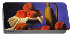 Local Peaches Oil Painting Portable Battery Charger