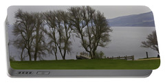Loch Ness And Boat Jetty Next To Urquhart Castle Portable Battery Charger