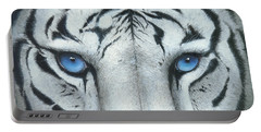 Portable Battery Charger featuring the painting Locked In by Mike Brown