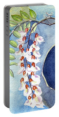 Locust Bloom Portable Battery Charger by Katherine Miller