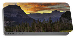 Logan Pass Sunrise Portable Battery Charger
