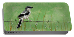 Loggerhead Shrike Portable Battery Charger by Stefanie Forck