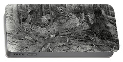 Logging A Redwood Hillside C. 1880 Portable Battery Charger