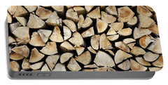 Logs Background Portable Battery Charger