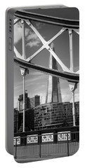 London Bridge With The Shard Portable Battery Charger by Chevy Fleet