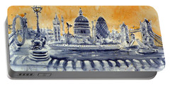 London By Night Portable Battery Charger by Kovacs Anna Brigitta