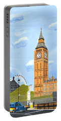 London England Big Ben  Portable Battery Charger by Magdalena Frohnsdorff