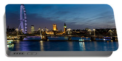London Eye And Central London Skyline Portable Battery Charger