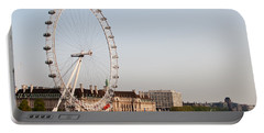 Portable Battery Charger featuring the photograph London Eye Day by Matt Malloy