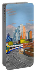 London Overland Train-hoxton Station Portable Battery Charger by Magdalena Frohnsdorff