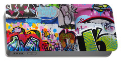 London Skate Park Abstract Portable Battery Charger by Rona Black