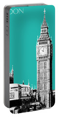 London Skyline Big Ben - Teal Portable Battery Charger