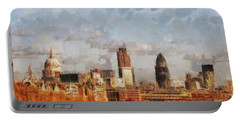 London Skyline From The River  Portable Battery Charger by Pixel Chimp