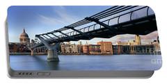 Millennium Bridge London 1 Portable Battery Charger by Rod McLean