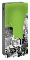 London Skyline The Gherkin Building - Olive Portable Battery Charger