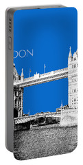 London Skyline Tower Bridge - Blue Portable Battery Charger