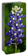 Lone Bluebonnet Portable Battery Charger