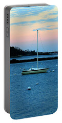 Lone Sailboat At York Maine Portable Battery Charger