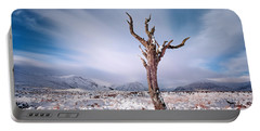 Lone Tree In The Snow Portable Battery Charger