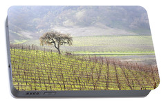Portable Battery Charger featuring the photograph Lone Tree In The Vineyard by AJ  Schibig