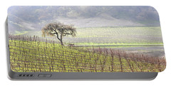 Lone Tree In The Vineyard Portable Battery Charger
