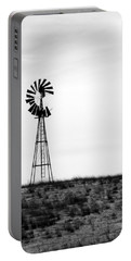 Portable Battery Charger featuring the photograph Lone Windmill by Cathy Anderson