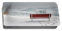 Lonely Bench Portable Battery Charger by Susan  McMenamin