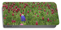 Portable Battery Charger featuring the photograph Lonely Bluebonnet by Jerry Bunger