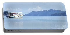 Portable Battery Charger featuring the photograph Lonely Boat by Andrea Anderegg