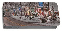 Long Grove In Snow Portable Battery Charger by David Bearden
