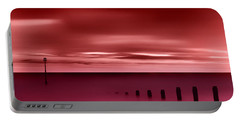 Long Red Sunset Portable Battery Charger