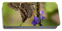 Portable Battery Charger featuring the photograph Long-tailed Skipper Photo by Meg Rousher