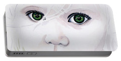 Longing Eyes Portable Battery Charger