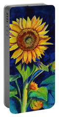 Midnight Sunflower Portable Battery Charger