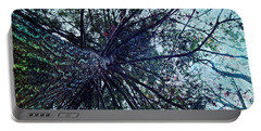 Look Up Through The Trees Portable Battery Charger by Joy Nichols