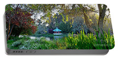 Portable Battery Charger featuring the photograph Looking Across Stow Lake At The Pagoda In Golden Gate Park by Jim Fitzpatrick