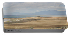 Looking North From Antelope Island Portable Battery Charger by Belinda Greb