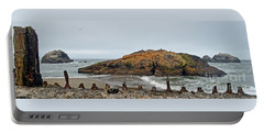 Portable Battery Charger featuring the photograph Looking Out On The Pacific Ocean From The Sutro Bath Ruins In San Francisco  by Jim Fitzpatrick