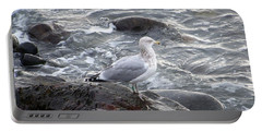 Looking Out To Sea Portable Battery Charger by Eunice Miller