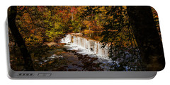 Looking Through Autumn Trees On To Waterfalls Fine Art Prints As Gift For The Holidays  Portable Battery Charger