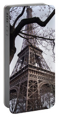 Looking Up To Eiffel  Portable Battery Charger by Debi Demetrion