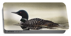 Loon In Still Waters Portable Battery Charger